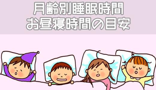 知っておくと便利な赤ちゃんの月齢別睡眠時間、お昼寝時間の目安