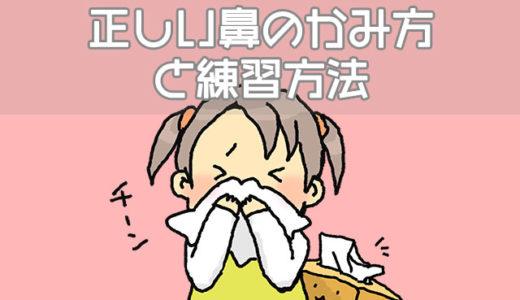 子供に教える正しい鼻のかみ方と練習方法、鼻詰まりの影響