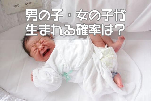 男の子・女の子が生まれる確率は?