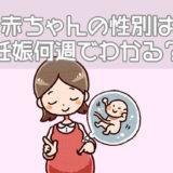 赤ちゃんの性別は妊娠何週でわかる?