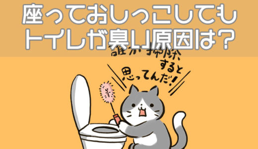 座っておしっこしてもトイレが臭い…尿はね・便座汚れの対策