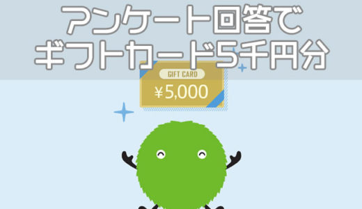 【限定】アンケート回答者全員がギフト券5000円分もらえる!